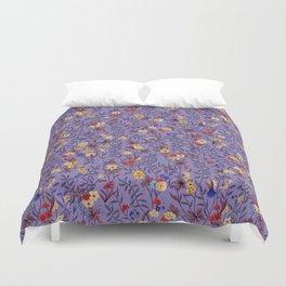 William Kilburn Garden in purple Duvet Cover