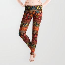 Tribal Ethnic (earth colors) Leggings