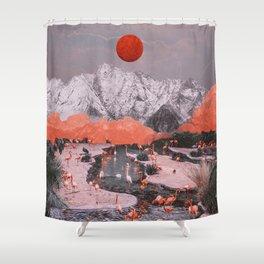 DASH OF PINK Shower Curtain
