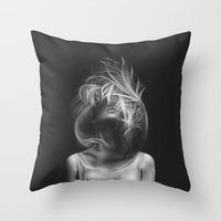 wind Throw Pillows featuring Wind by Illustratic