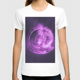 E-mail symbol. e-mail sign. Abstract night sky background T-shirt