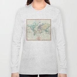 Vintage Map of The World (1801) Long Sleeve T-shirt