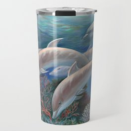 Happy Family - Dolphins Are Awesome Travel Mug