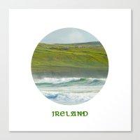 ireland Canvas Prints featuring Ireland by Dustin Hall