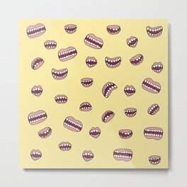 Oh My Mouth Metal Print