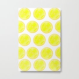 Polka Lemon Metal Print