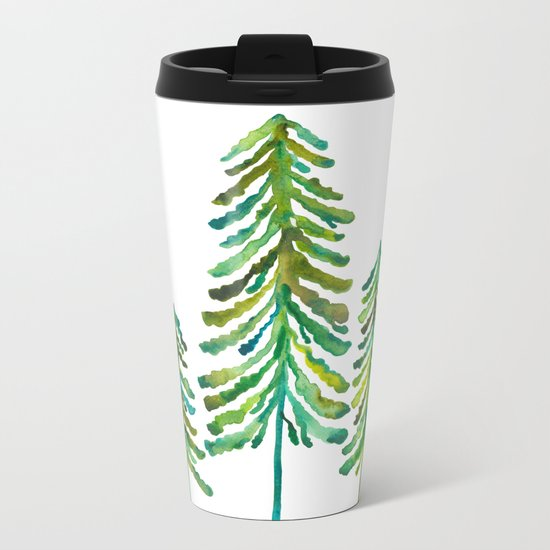 Pine Trees – Green Palette Metal Travel Mug