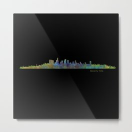 Dark Beverly Hills Skyline Metal Print