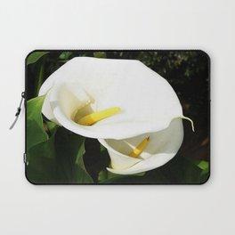 Beautiful White Calla Flowers In Bright Sunlight Laptop Sleeve