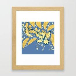 Samoan Orchid Sunset Polynesian Floral Framed Art Print