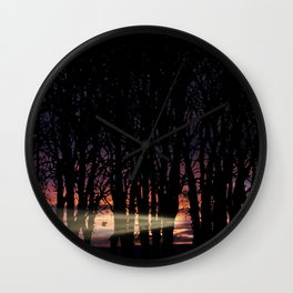 Sunrise in the Trump Forest .2 Wall Clock