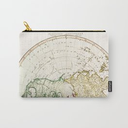 Northern Hemisphere- reproduction of William Faden's 1790 engraving Carry-All Pouch