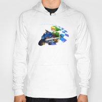 mario kart Hoodies featuring Mario Kart 8 - Link on the Mastercycle by brit eddy