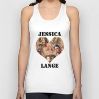 jessica lange Tank Tops featuring Jessica Lange  by BeeJL