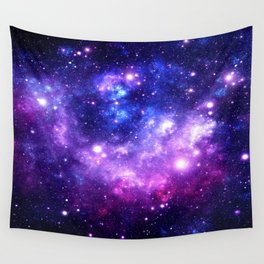 Purple Blue Galaxy Nebula Wall Tapestry