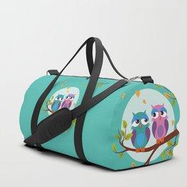 Sleepy owls in love Duffle Bag