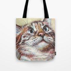 Cat Watercolor Tote Bag