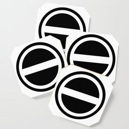 Curtis Holt Logo (Black) Coaster