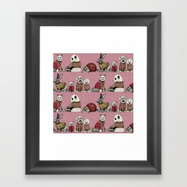vintage chums pink Framed Art Print