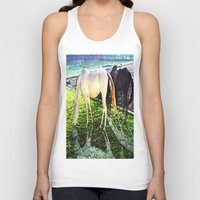 horses Tank Tops featuring horses by  Agostino Lo Coco