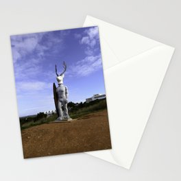 Veado Surfer Statue Standing Tall Stationery Cards