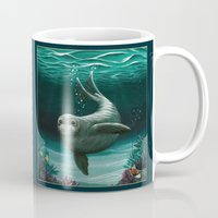 hawaiian Mugs featuring Hawaiian Monk Seal ~ Acrylic by Amber Marine