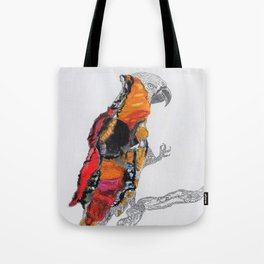 Perroquet rouge Tote Bag