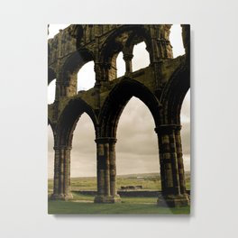 Abbey on the Cliff Metal Print