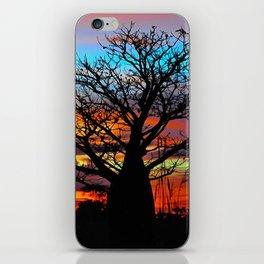 Candy Colour Sunset thru Boab iPhone Skin