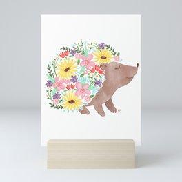Flowering Hedgehog Mini Art Print