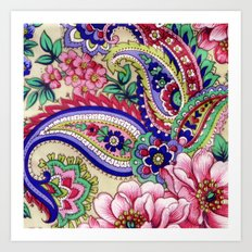 Floral Deco Art Print