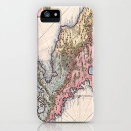 Vintage Map of Martinique Island (1742) iPhone Case