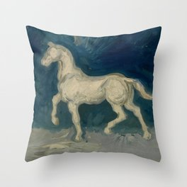 "Vincent van Gogh ""Plaster Statuette of a Horse"" Throw Pillow"