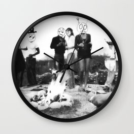 An Uncomfortable Time Around the Campfire Wall Clock
