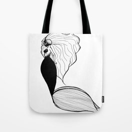 Space Mermaid Tote Bag