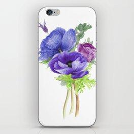 Bouquet of anemones iPhone Skin