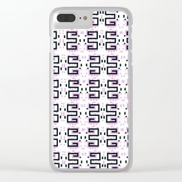 Gently Bold - Pattern Clear iPhone Case