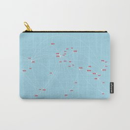 Air route and airport hub Airspace map Carry-All Pouch