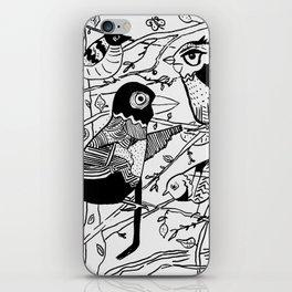 Crazy Birds illustration iPhone Skin