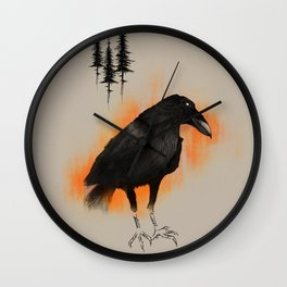 Raven from Blackforest Wall Clock