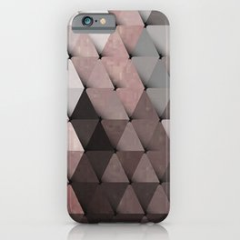 Triangles Putty Mauve iPhone Case