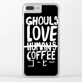 Ghoul Love Coffee Clear iPhone Case