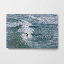 Wrightsville Surfer Metal Print