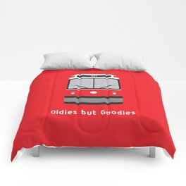 Oldies but Goodies - Old Streetcar, Toronto, ON, Canada Comforters