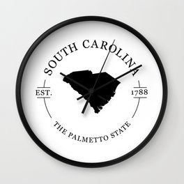 South Carolina - The Palmetto State Wall Clock