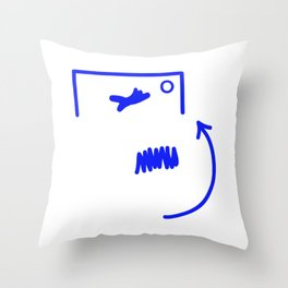 Free Kick Throw Pillow