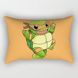 TMNT_POKET_MONSTER_orange Rectangular Pillow