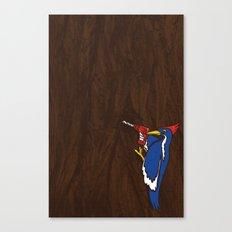 Modern Day Woodpecker Canvas Print