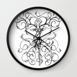 Deer Demask Wall Clock