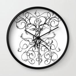 Deer Demask Wall Clock